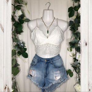 Beautiful Lace Bra/Crop Top!